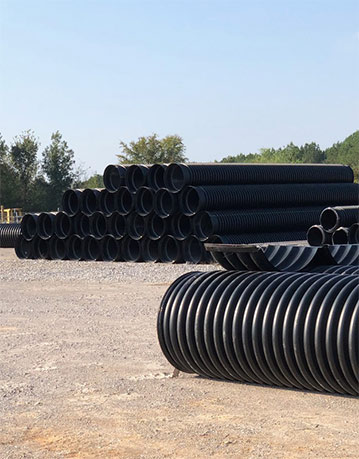 Industrial pipe in stock