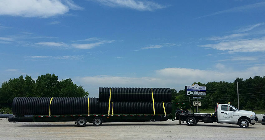 HDPE Pipe Delivery